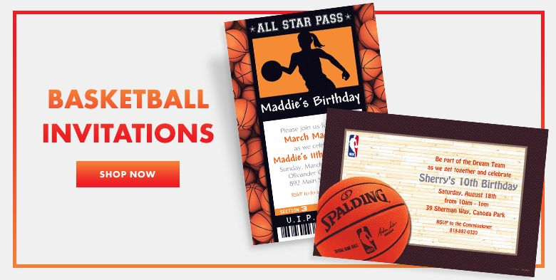 Basketball Invitations Shop Now