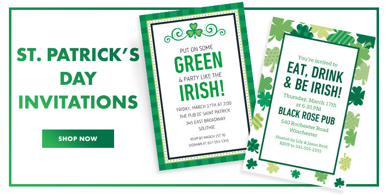 St.Patrick's Day Invitations Shop Now