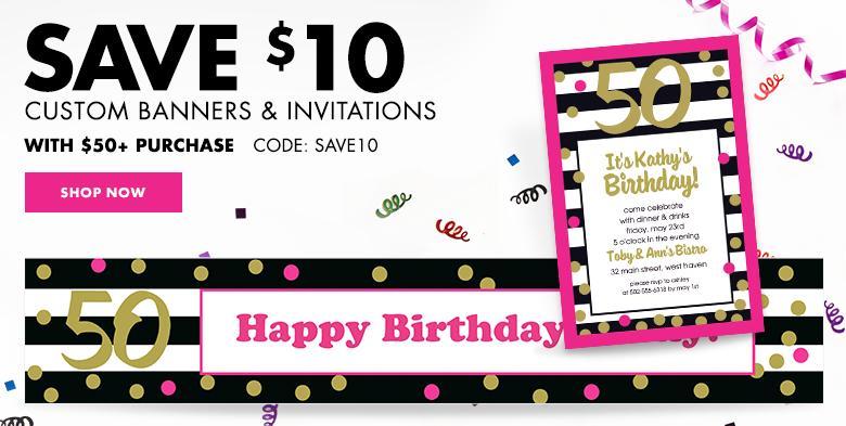 Custom Milestone Invitations & Banners