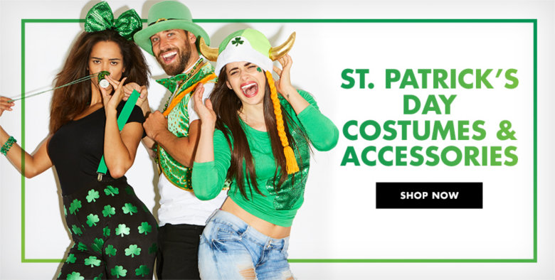 St. Patrick's Day Costumes & Accessories Shop Now