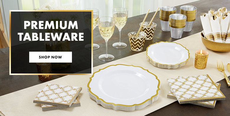 Premium Color Border Tableware Shop Now