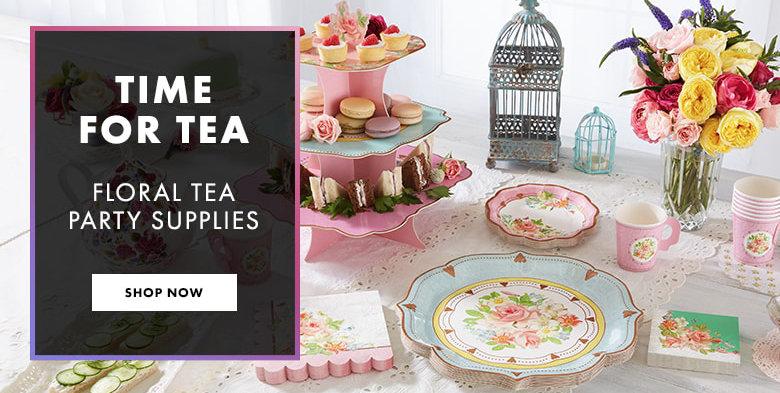 Floral Tea Party Supplies