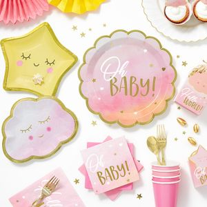 Card Embellishment Baby Girl Hats Paper Craft Toppers or Baby Shower Decoration