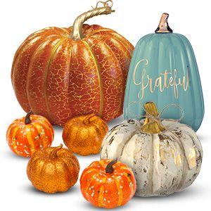 Fall Harvest Decor ~ Felt Harvest Blessings Hanging Sign