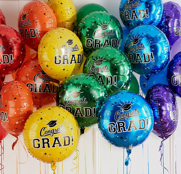Pack of 20 Red Grad Class of 2019 Graduation 12 Inch Latex Balloons for Classic Red Balloon Black Red