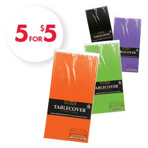 5 for $5 Plastic Table Covers