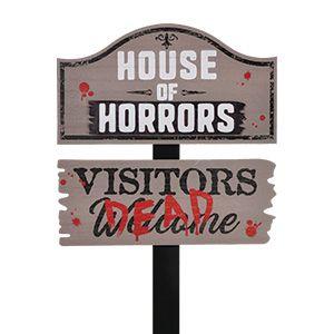 Dont Open Dead Inside Zombie Warning Halloween Poster 12 x 8 Prank Trick Metal Sign for Door Wall Decor