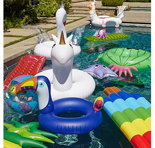 Christmas Themed Pool Floats.Summer Party Themes Supplies Party City
