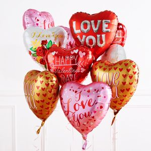 "Valentines Day I Love You Birthday Party Decoration Assorted 18/"" Foil Balloon"