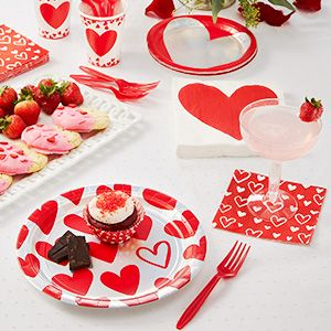 Valentine's Day Tableware Themes
