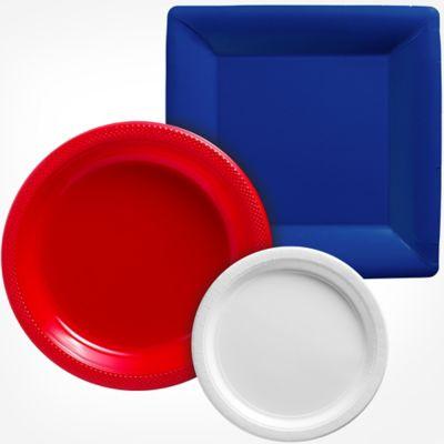 Paper Plastic Plates  sc 1 st  Party City & Tableware \u0026 Entertaining Supplies - Premium \u0026 Plastic Tableware ...