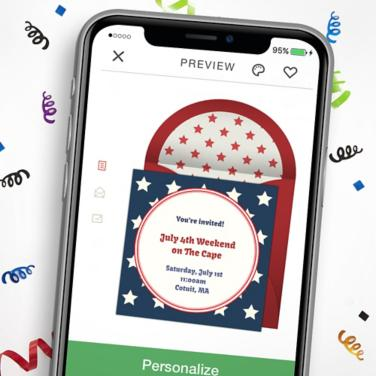Digital 4th of July Invitations