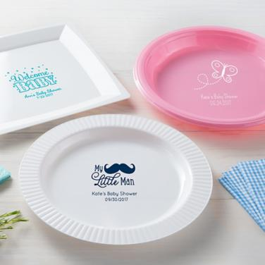 Personalized Baby Shower Plates