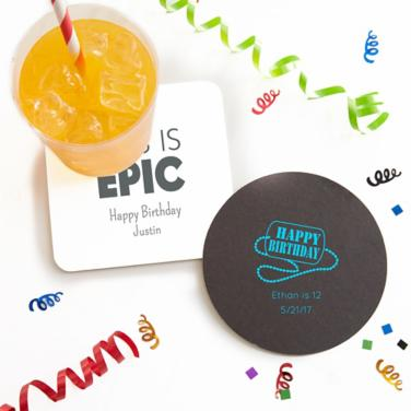 Personalized Boys Birthday Coasters