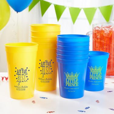 Personalized Boys Birthday Cups