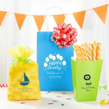 Personalized Boys Birthday Bags