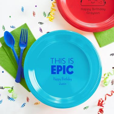 Personalized Boys Birthday Plates