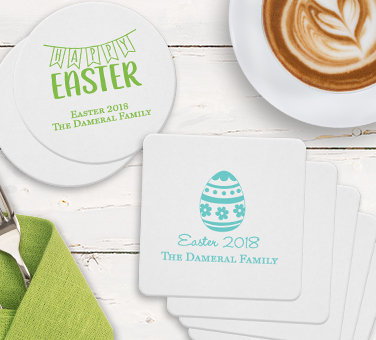 Personalized Easter Coasters