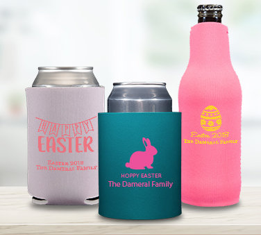 Personalized Easter Huggers & Coozies