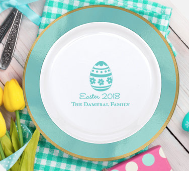 Personalized Easter Plates