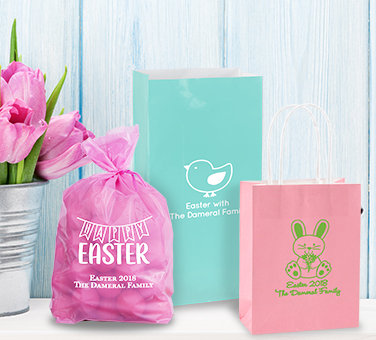 Personalized Easter Favor Bags & Boxes