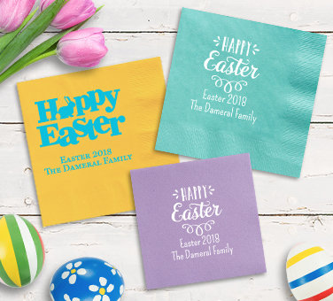 Personalized Easter Napkins