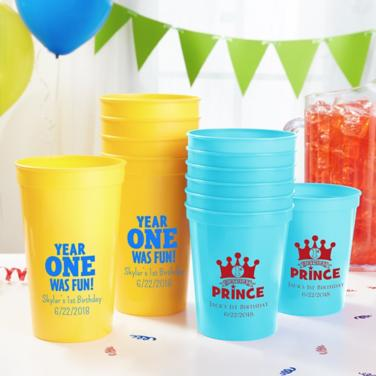 Personalized First Birthday Cups