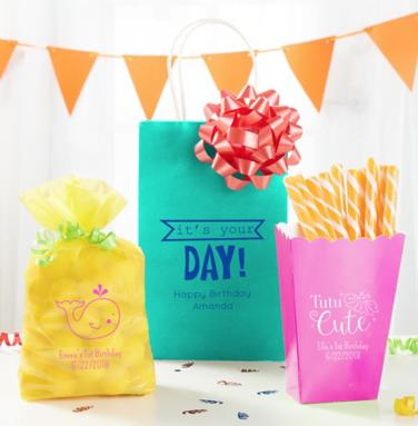Personalized First Birthday Bags