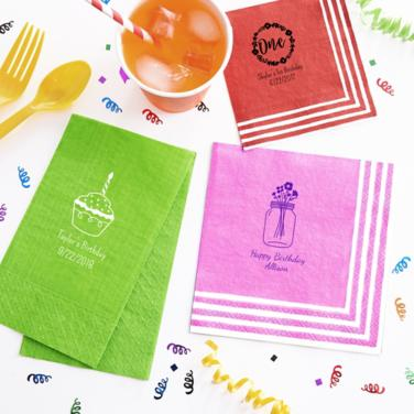 Personalized First Birthday Napkins