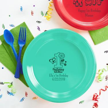 Personalized First Birthday Plates