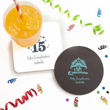 Personalized Girls Birthday Coasters
