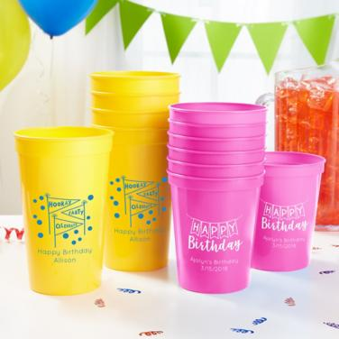 Personalized Girls Birthday Cups