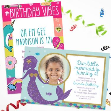 Personalized Girls Birthday Invitations