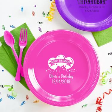 Personalized Girls Birthday Plates