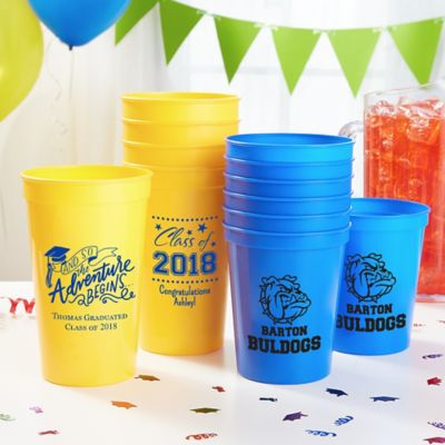 Personalized Graduation Cups & Personalized Graduation Napkins Plates Cups u0026 Balloons | Party City