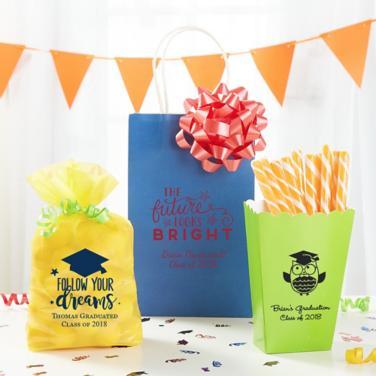 Personalized Graduation Favor Bags & Boxes