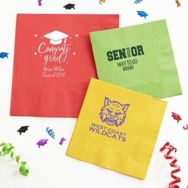 Personalized Graduation Napkins