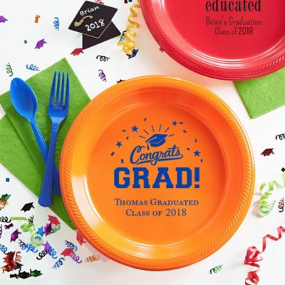 Personalized Plates  sc 1 st  Party City & Personalized Graduation Napkins Plates Cups u0026 Balloons | Party City