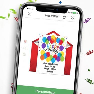 Digital Happy Birthday Invitations