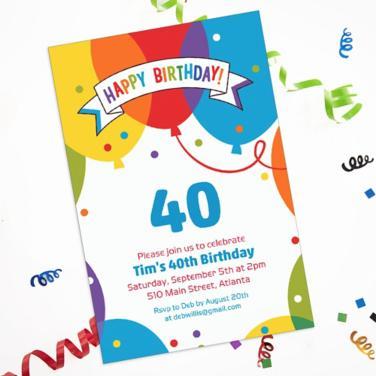 Custom Happy Birthday Invitations