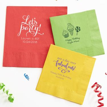 Personalized Happy Birthday Napkins
