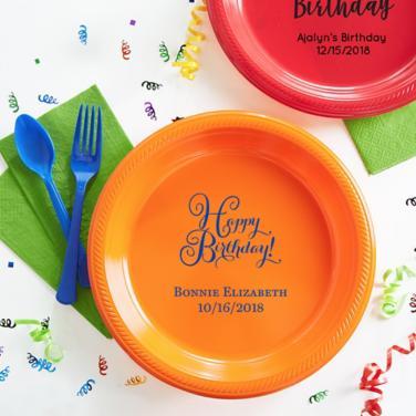 Personalized Happy Birthday Plates