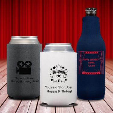 Personalized Hollywood Coozies & Huggers