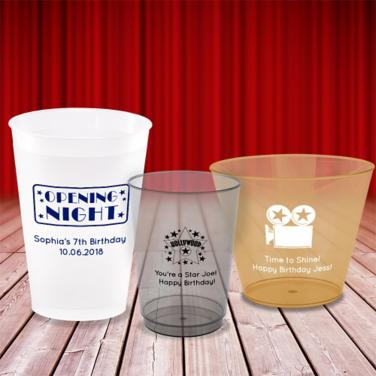 Personalized Hollywood Cups