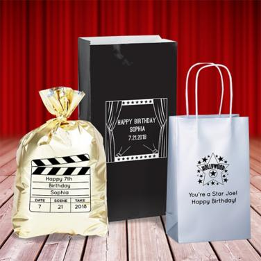 Personalized Hollywood Favor Bags & Boxes