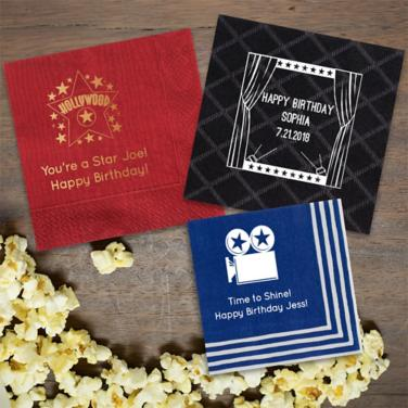 Personalized Hollywood Napkins