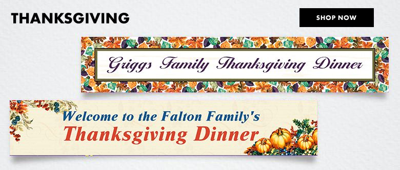 Custom Thanksgiving Banners Shop Now