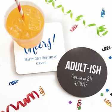 Personalized Milestone  Coasters