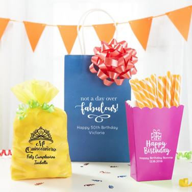 Personalized Milestone Favor Bags & Boxes