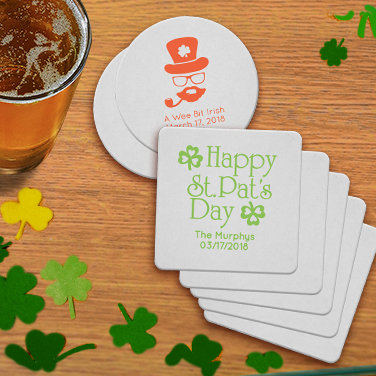Personalized St. Patrick's Day Coasters